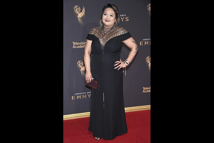 Monica Sotto on the red carpet at the 2017 Creative Arts Emmys.