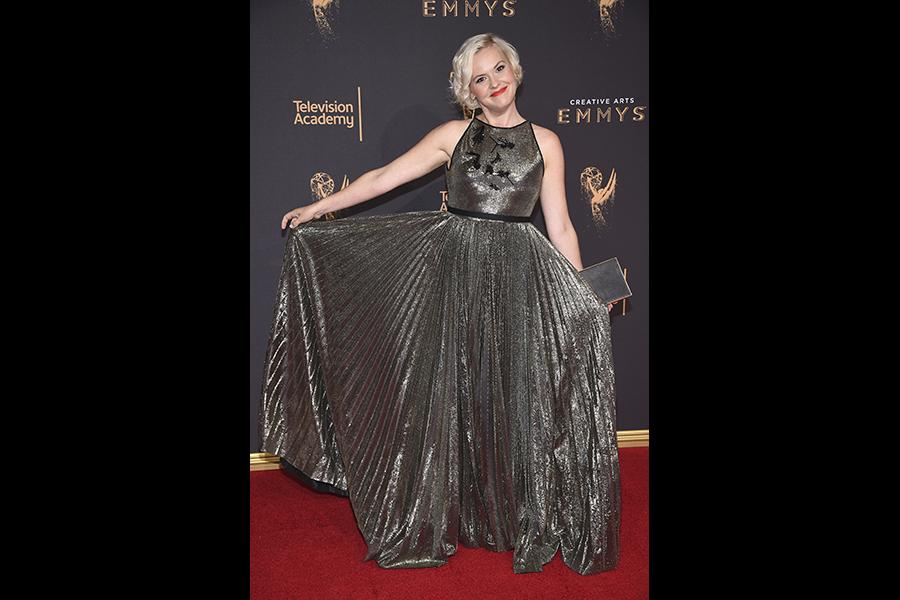 Kimmy Gatewood on the red carpet at the 2017 Creative Arts Emmys.