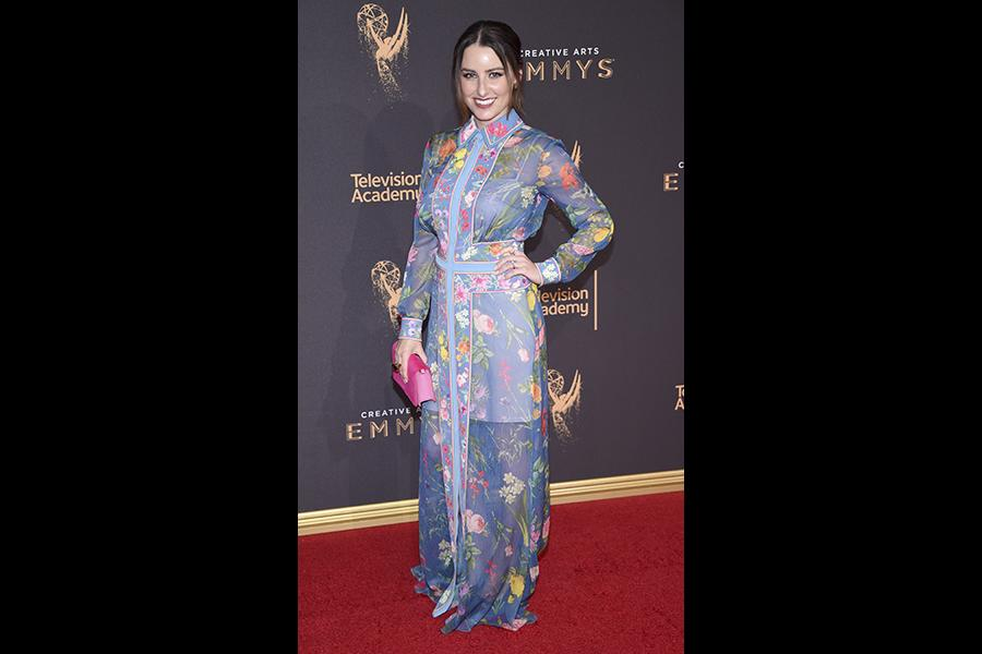 Chloe Arbiture on the red carpet at the 2017 Creative Arts Emmys.