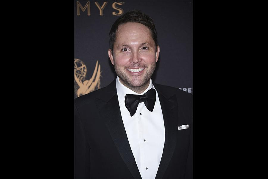Rob Crabbe on the red carpet at the 2017 Creative Arts Emmys.
