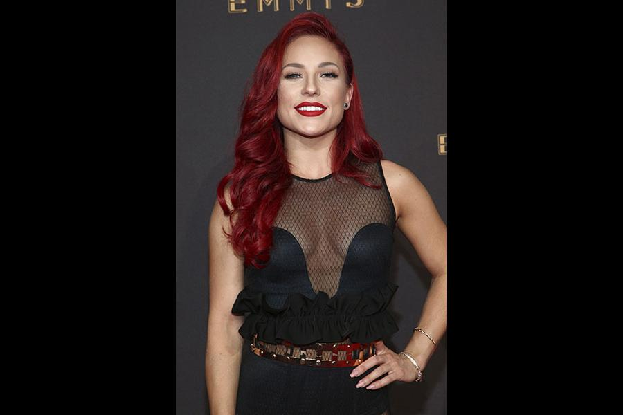 Sharna Burgess on the red carpet at the 2017 Creative Arts Emmys.