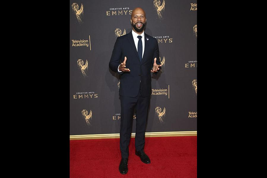 Common on the red carpet at the 2017 Creative Arts Emmys.