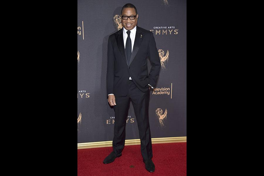 Television Academy chairman and CEO Hayma Washington on the red carpet at the 2017 Creative Arts Emmys.
