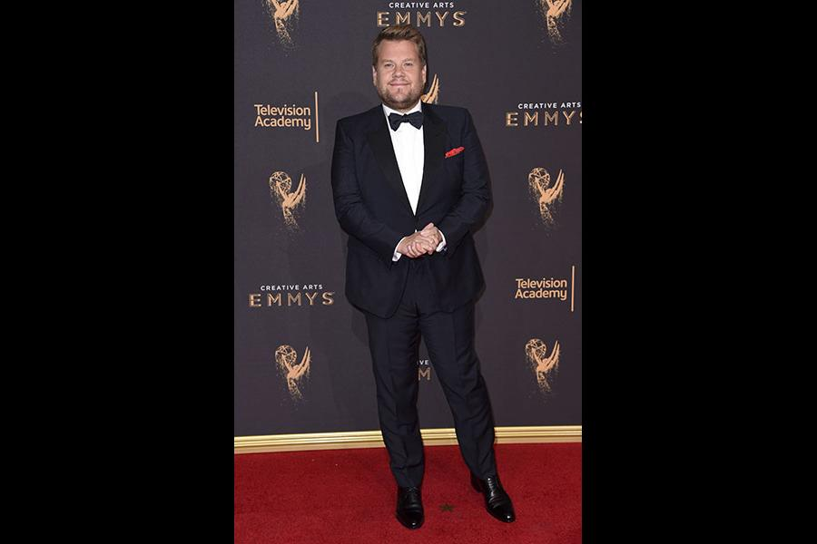 James Corden on the red carpet at the 2017 Creative Arts Emmys.