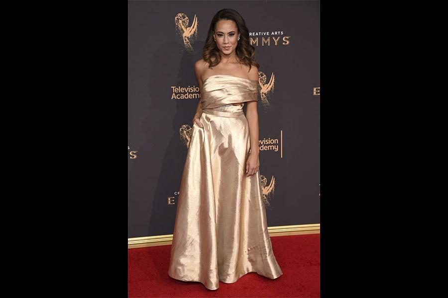 Alex Hudgens on the red carpet at the 2017 Creative Arts Emmys.
