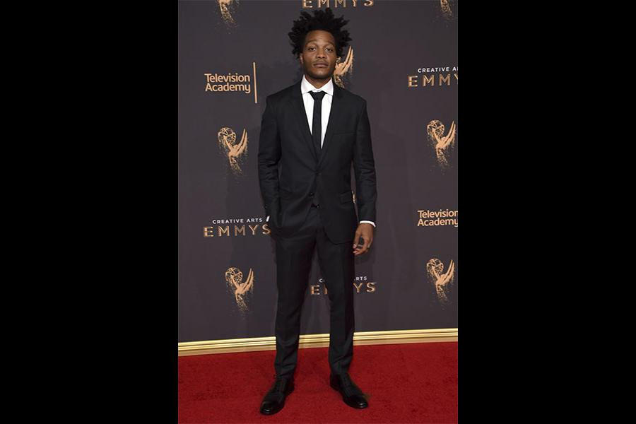 Jermaine Fowler on the red carpet at the 2017 Creative Arts Emmys.