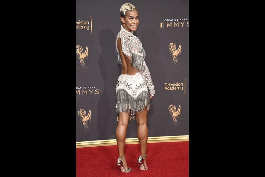 Sibley Scoles on the red carpet at the 2017 Creative Arts Emmys.
