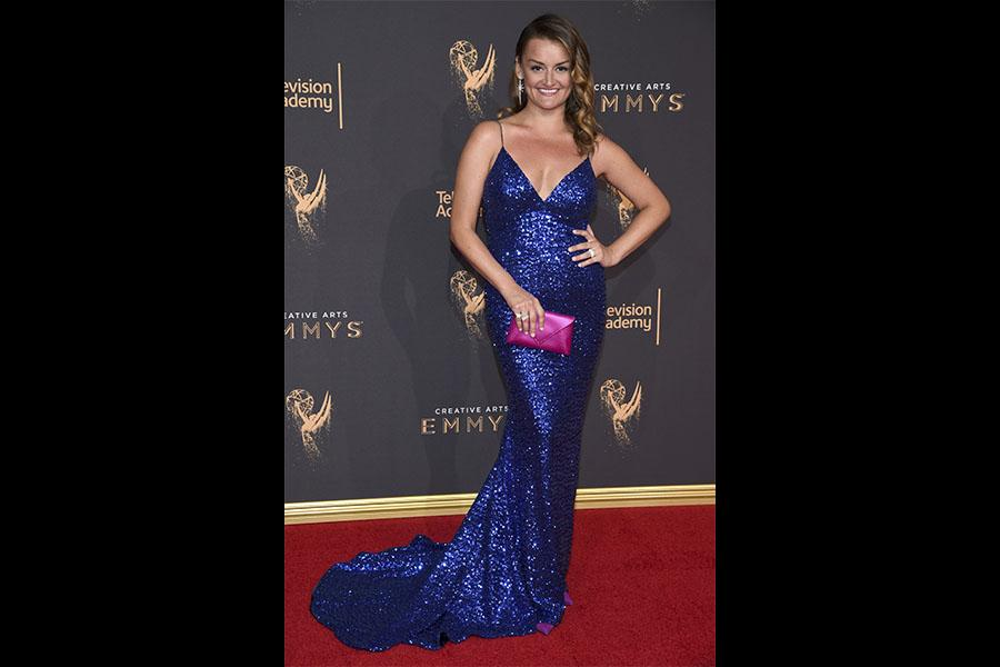 Alison Wright on the red carpet at the 2017 Creative Arts Emmys.
