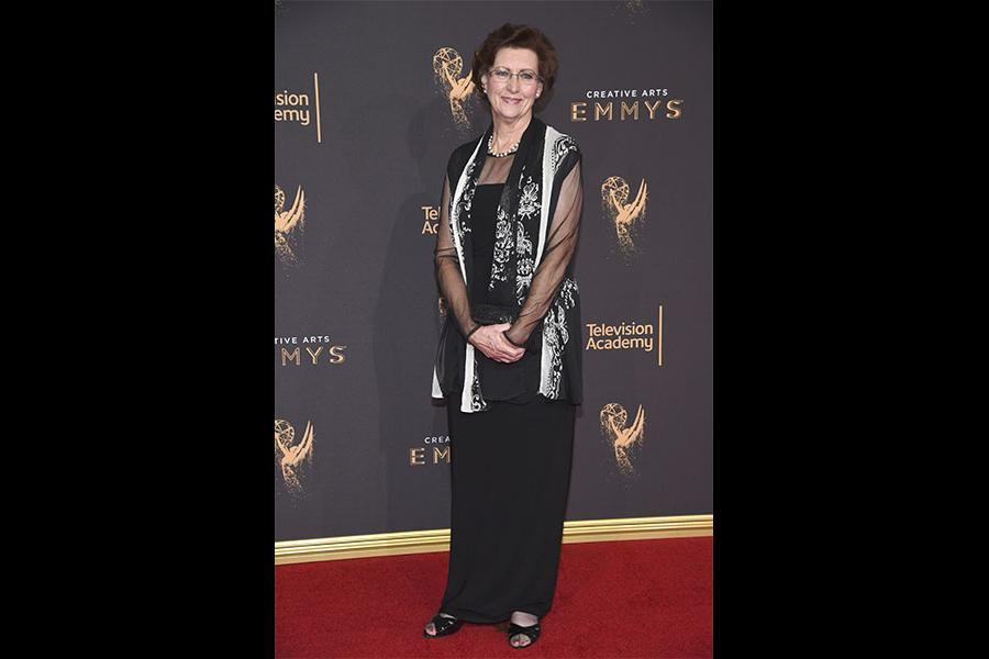 Evelyn Roach on the red carpet at the 2017 Creative Arts Emmys.