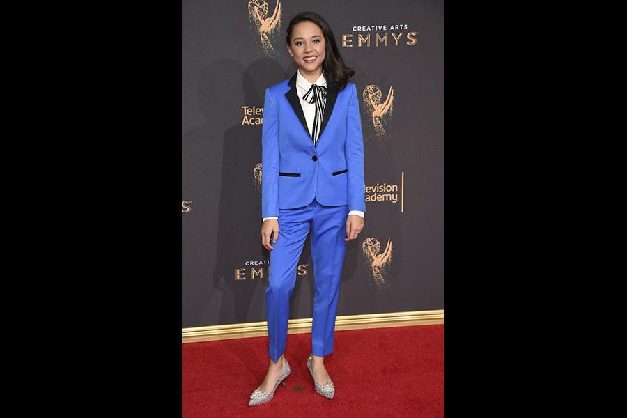 Breanna Yde on the red carpet at the 2017 Creative Arts Emmys.