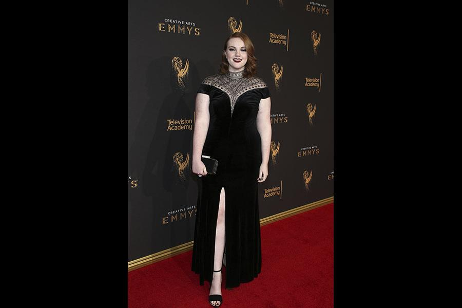 Shannon Purser on the red carpet at the 2017 Creative Arts Emmys.