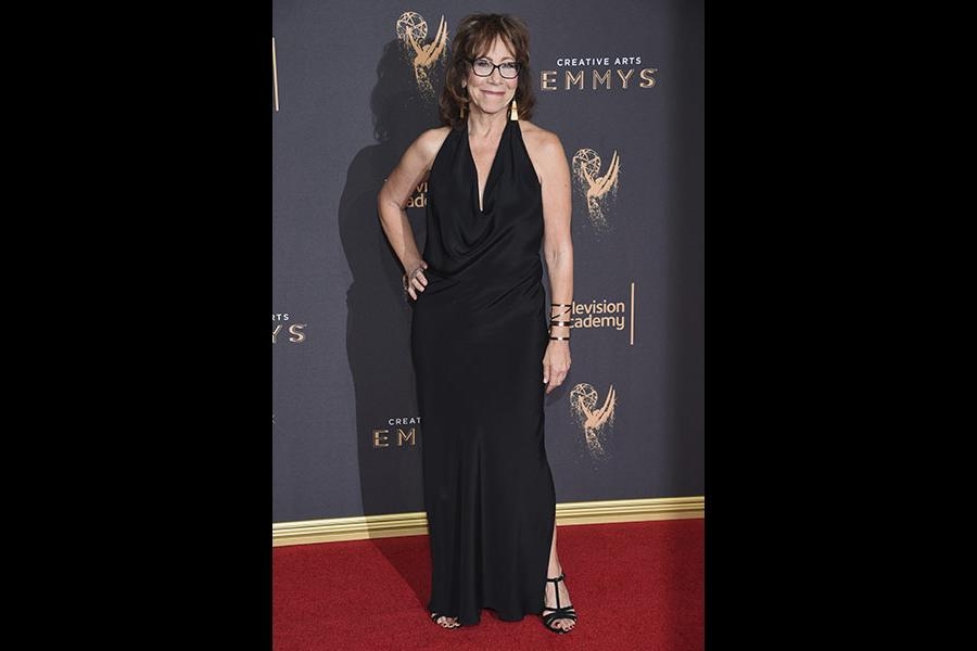 Mindy Sterling on the red carpet at the 2017 Creative Arts Emmys.