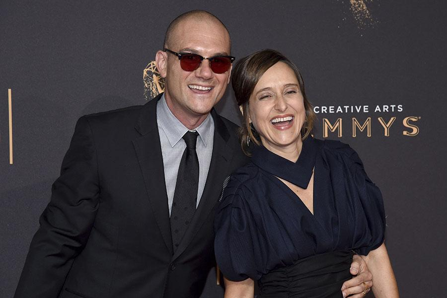 Devorah Herbert and guest on the red carpet at the 2017 Creative Arts Emmys.