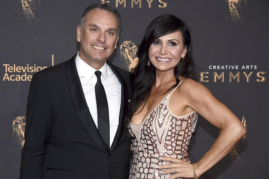 Dana Gonzales and Orna Gonzales on the red carpet at the 2017 Creative Arts Emmys.