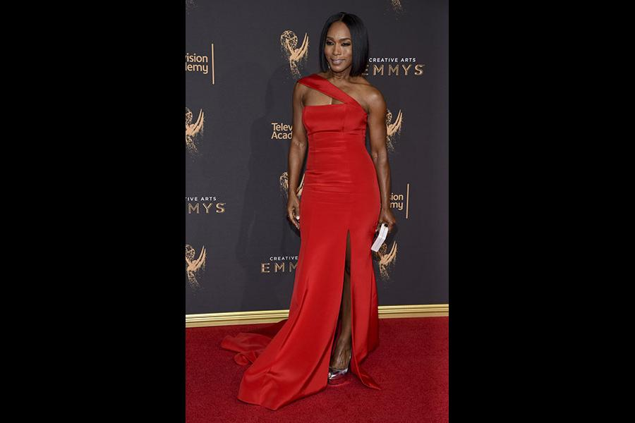 Angela Bassett on the red carpet at the 2017 Creative Arts Emmys.
