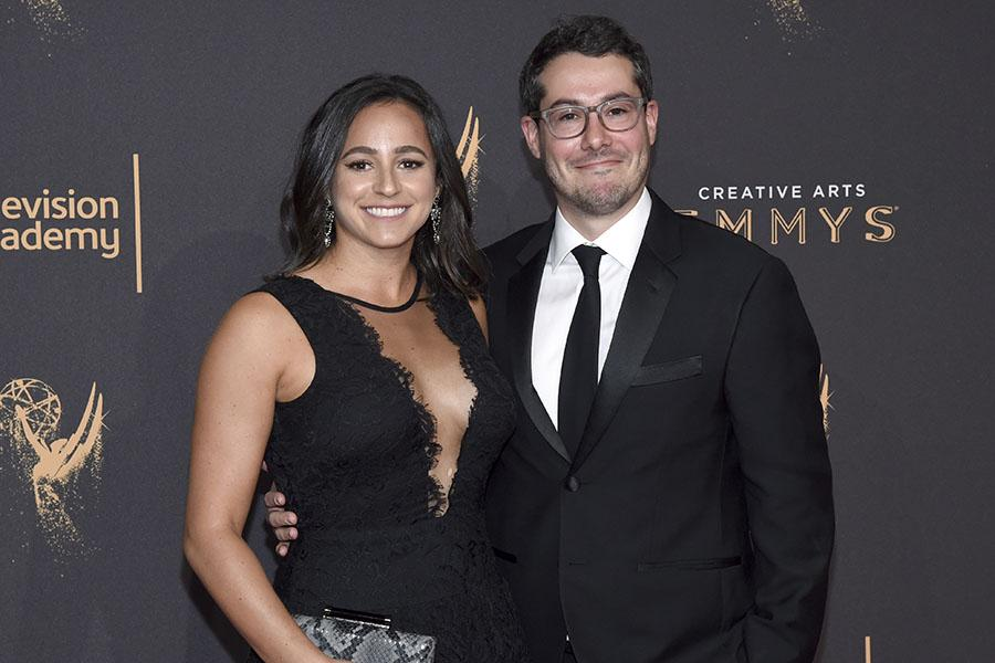 Meredith Allenick and Josh Berger on the red carpet at the 2017 Creative Arts Emmys.
