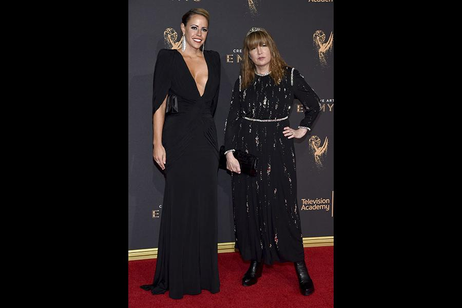 Jamie Walker McCall and Judy Becker on the red carpet at the 2017 Creative Arts Emmys.