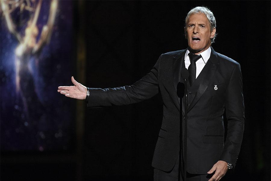 Michael Bolton on stage at the 2017 Creative Arts Emmys.