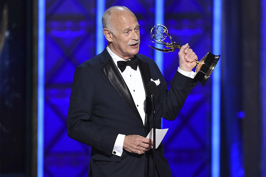 Gerald McRaney on stage at the 2017 Creative Arts Emmys.