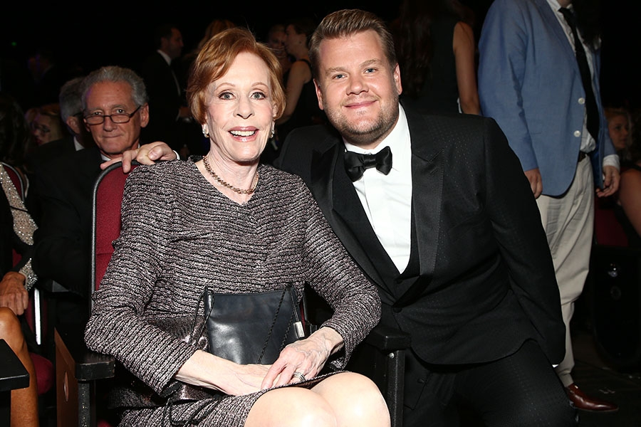 Carol Burnett and James Corden
