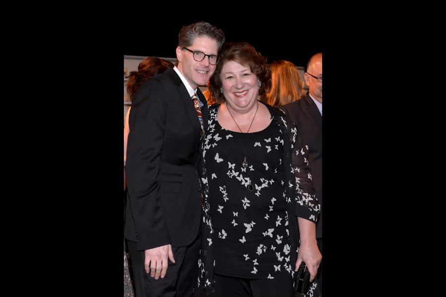 Bob Bergen (l) and Margo Martindale (r) of The Americans attend the Performers nominee reception.