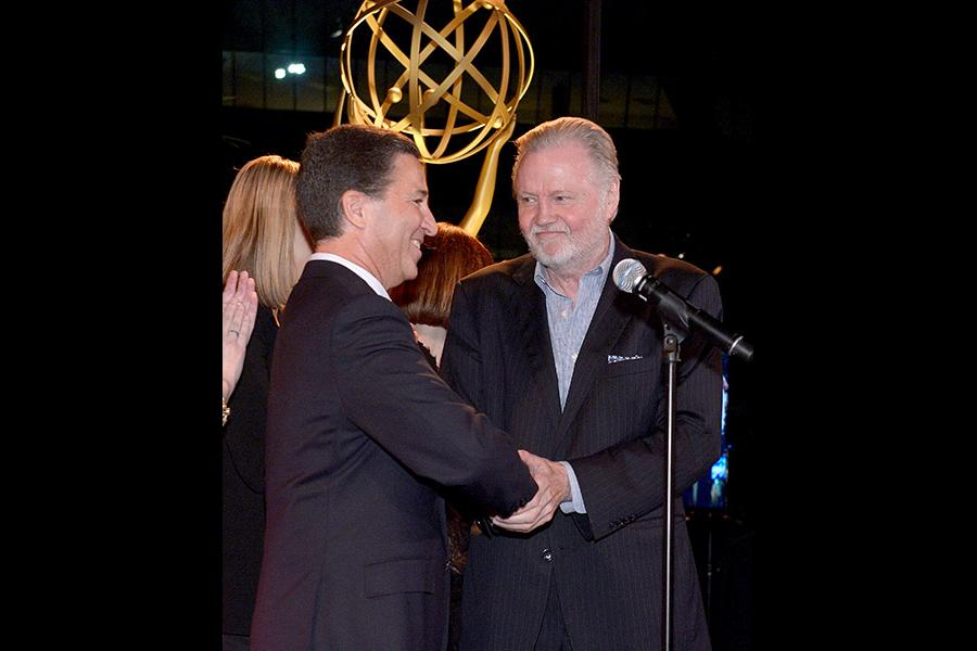 Bruce Rosenblum (l) and Jon Voight (r) of Ray Donovan attend Performers nominee reception.