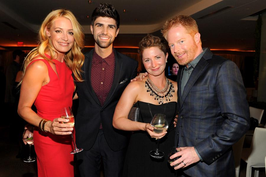(From left) Cat Deeley of So You Think You Can Dance, Justin Mikita, Kelly Ferguson and Jesse Tyler Ferguson of Modern Family attend the Performers nominee reception.