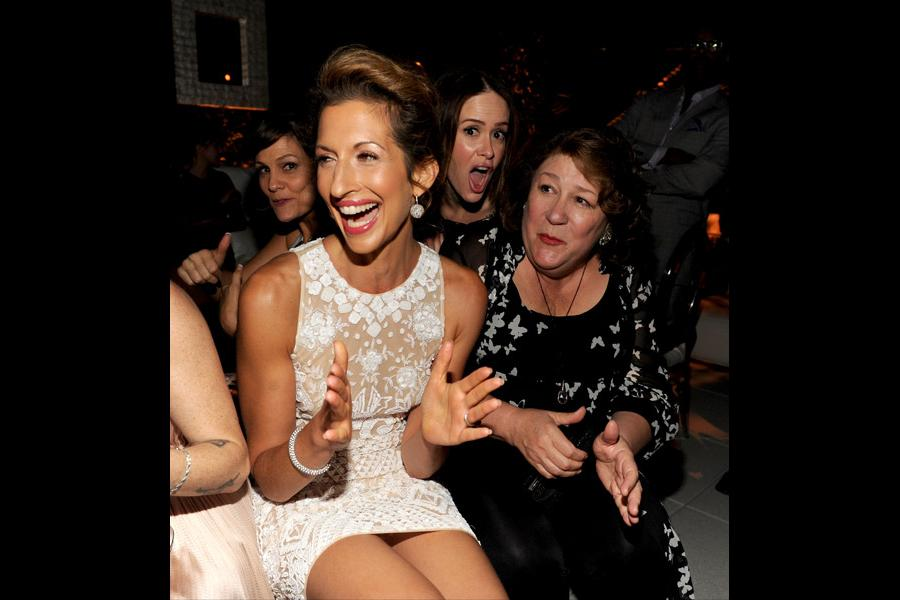 Alysia Reiner (l) of Orange Is the New Black, Sarah Paulson (c) of American Horror Story: Coven and Margo Martindale (r) of The Americans attend the Performers nominee reception.