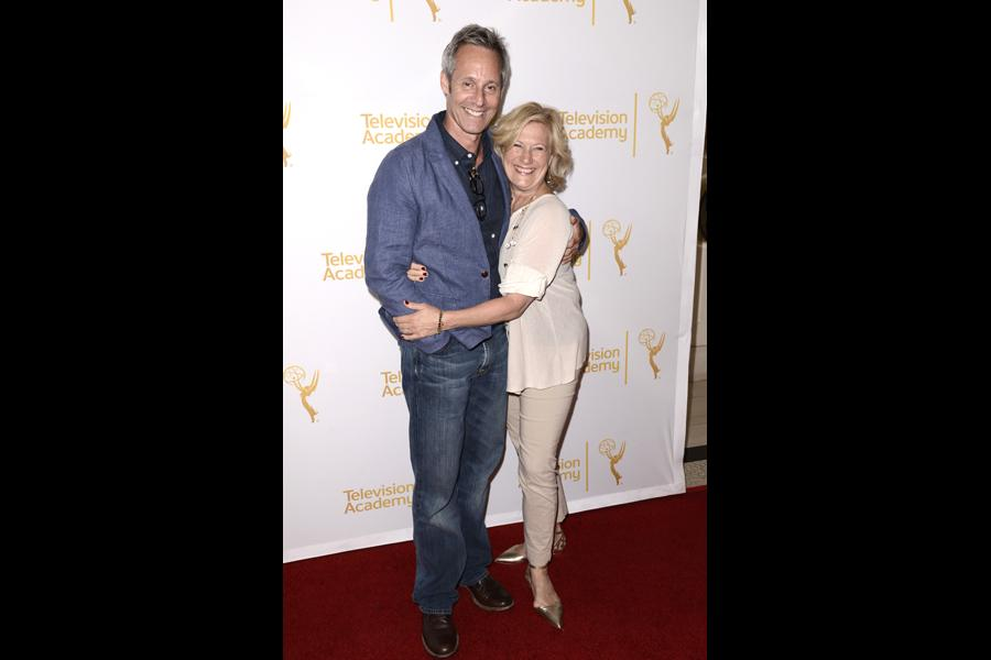 Michel Gill, left, and Jayne Atkinson arrive at the Producers Nominee Reception.