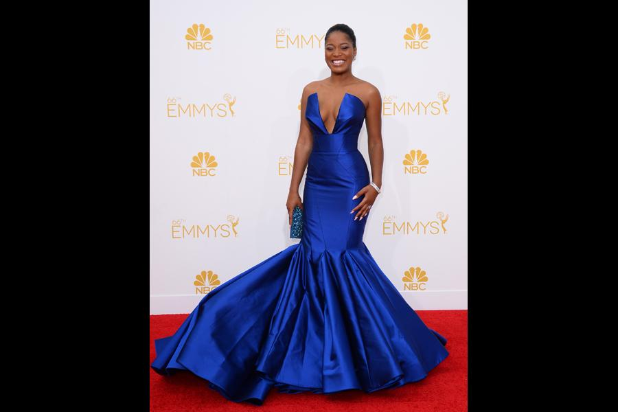 Keke Palmer of Masters of Sex arrives at the 66th Emmy Awards.