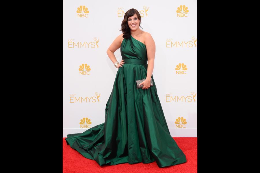 Allison Tolman of Fargo arrives at the 66th Emmys.