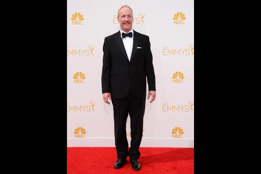 Matt Walsh of Veep arrives at the 66th Emmys.