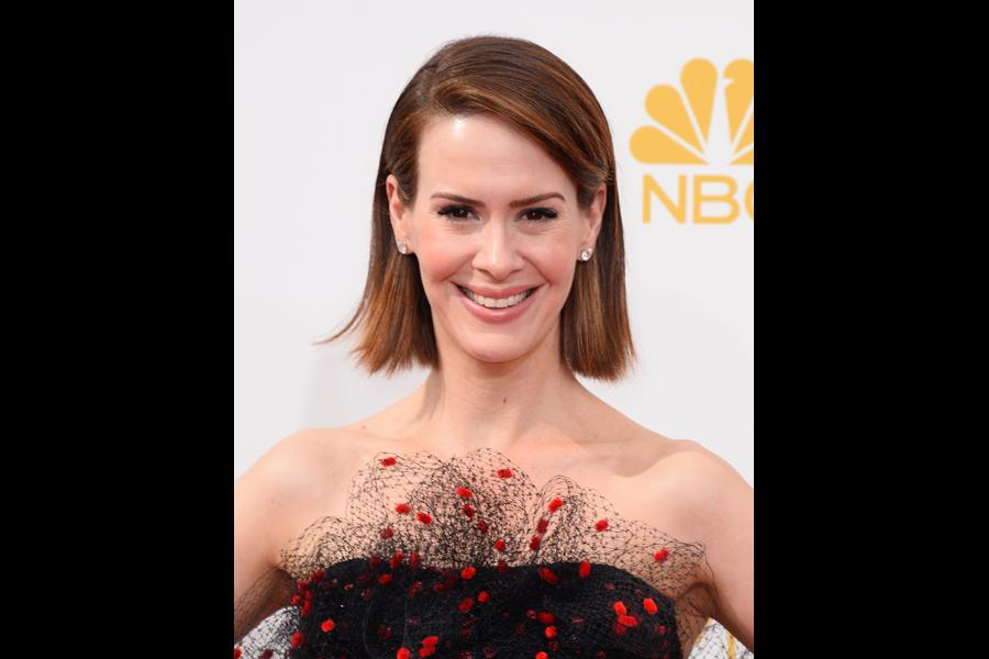 Sarah Paulson of American Horror Story: Coven arrives at the 66th Emmy Awards.