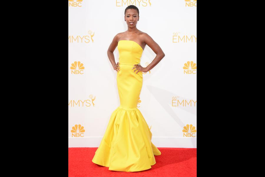 Samira Wiley of Orange Is the New Black arrives at the 66th Emmy Awards.