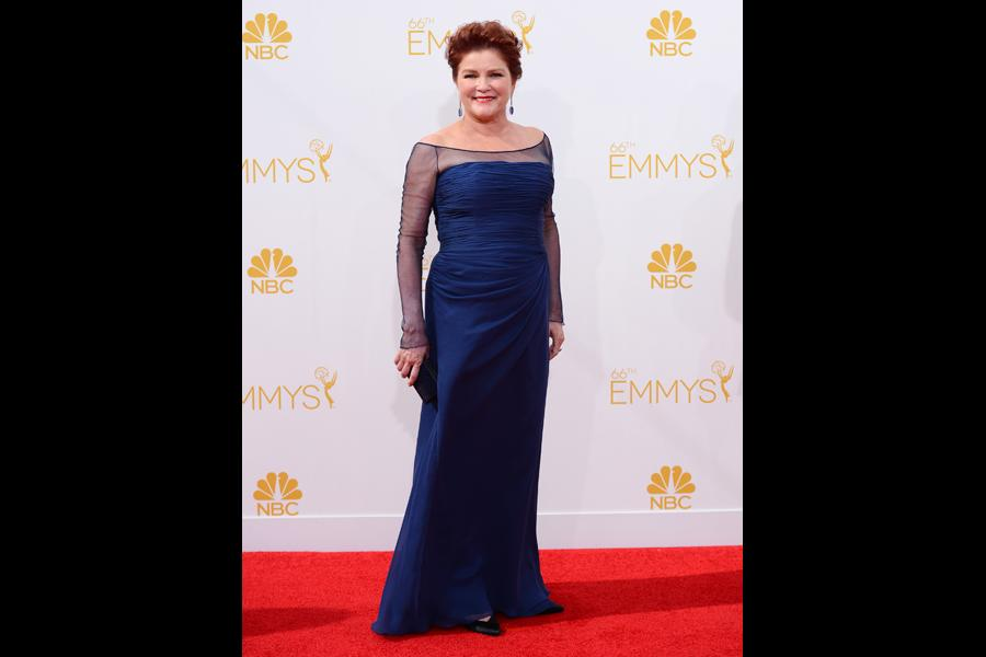 Kate Mulgrew of Orange is the New Black arrives at the 66th Emmy Awards.