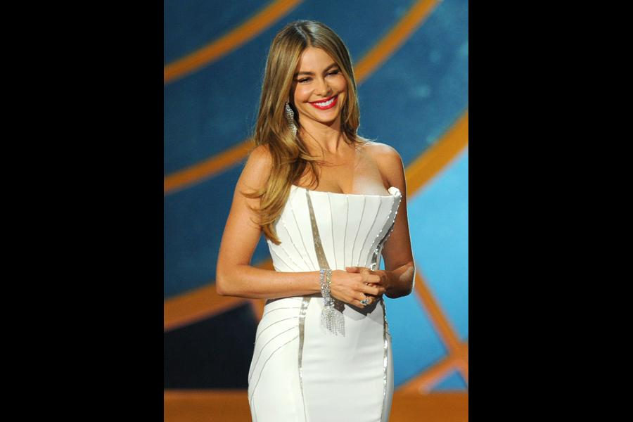 Sofía Vergara of Modern Family presenting at the 66th Emmys.