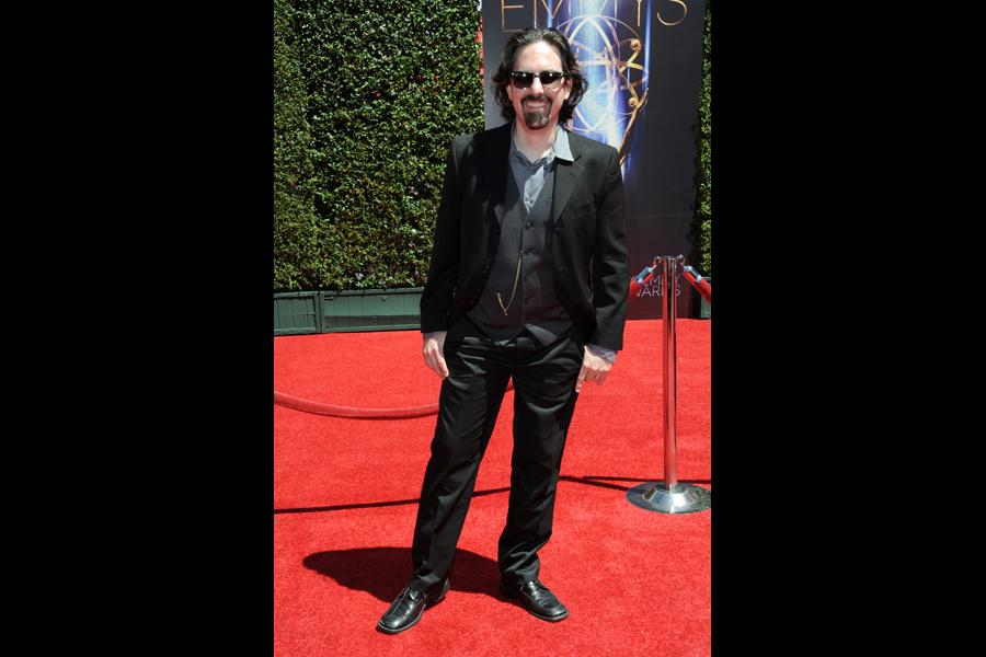 Bear McCreary arrives for the 2014 Primetime Creative Arts Emmys.