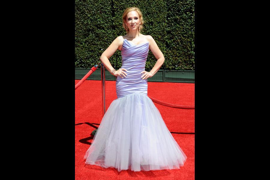 Leigh-Allyn Baker arrives for the 2014 Primetime Creative Arts Emmys.