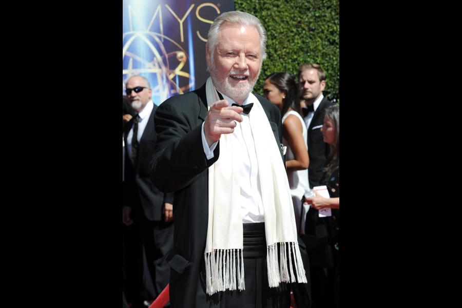 Jon Voight of Ray Donovan arrives for the 2014 Primetime Creative Arts Emmys.