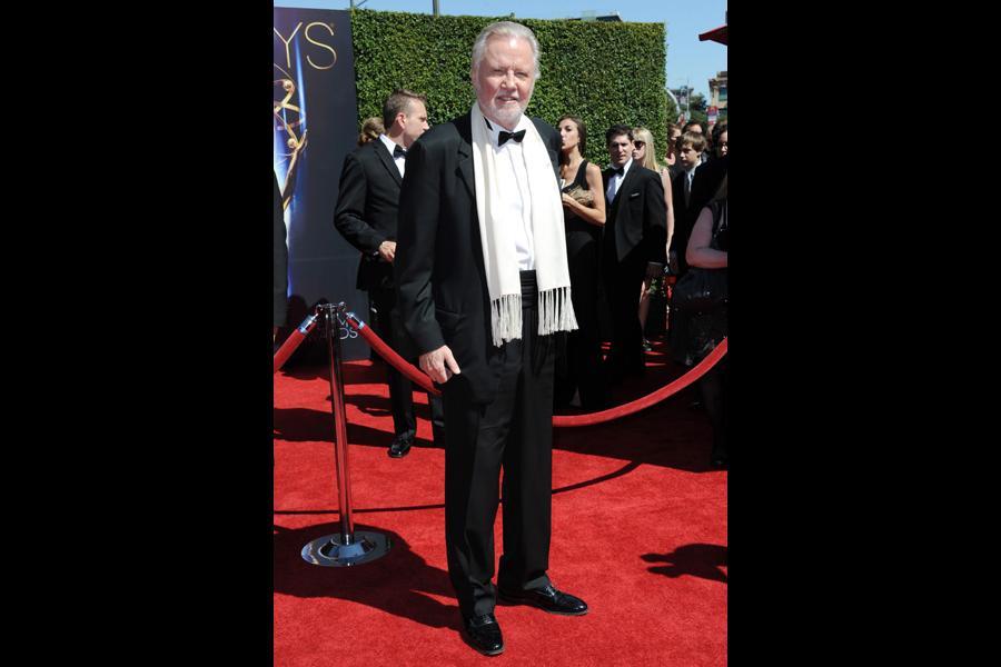 Jon Voight arrives for the 2014 Primetime Creative Arts Emmys.