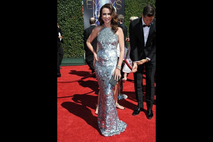 Janie Bryant arrives for the 2014 Primetime Creative Arts Emmys.