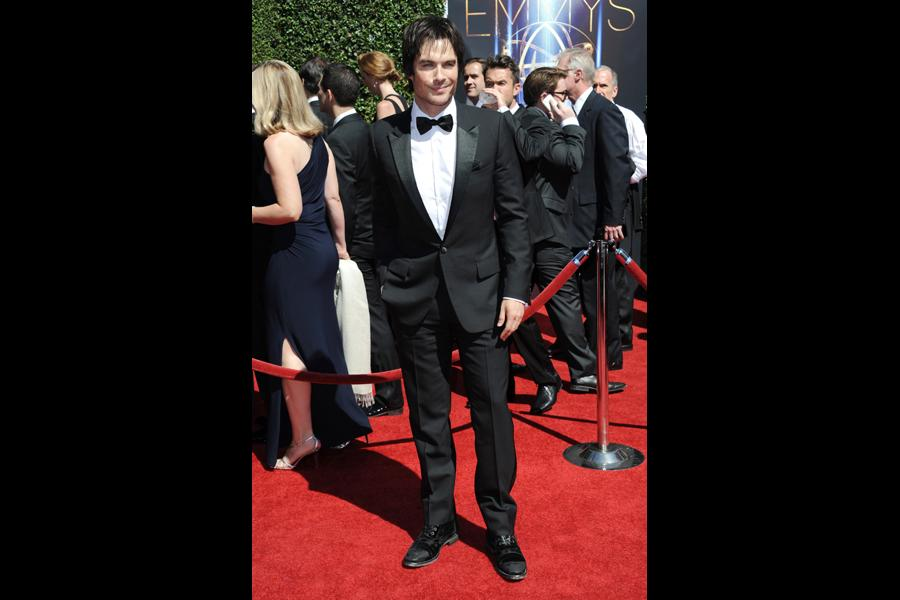 Ian Somerhalder of The Vampire Diaries arrives for the 2014 Primetime Creative Arts Emmys.