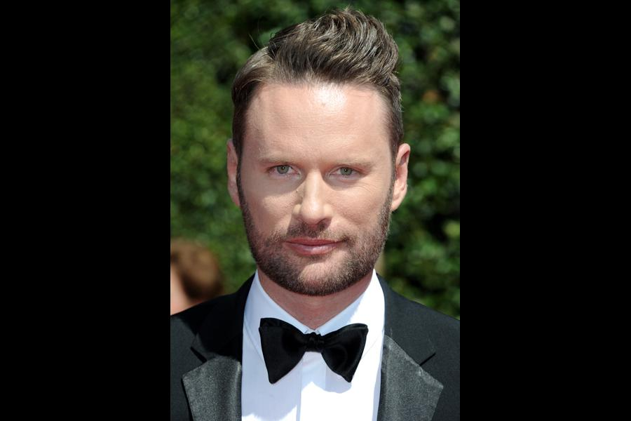 Brian Tyler arrives for the 2014 Primetime Creative Arts Emmys.
