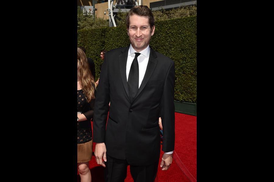 Scott Aukerman arrives for the 2014 Primetime Creative Arts Emmys.