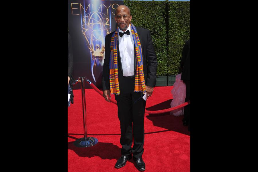 Reg E. Cathey of House of Cards arrives for the 2014 Primetime Creative Arts Emmys.