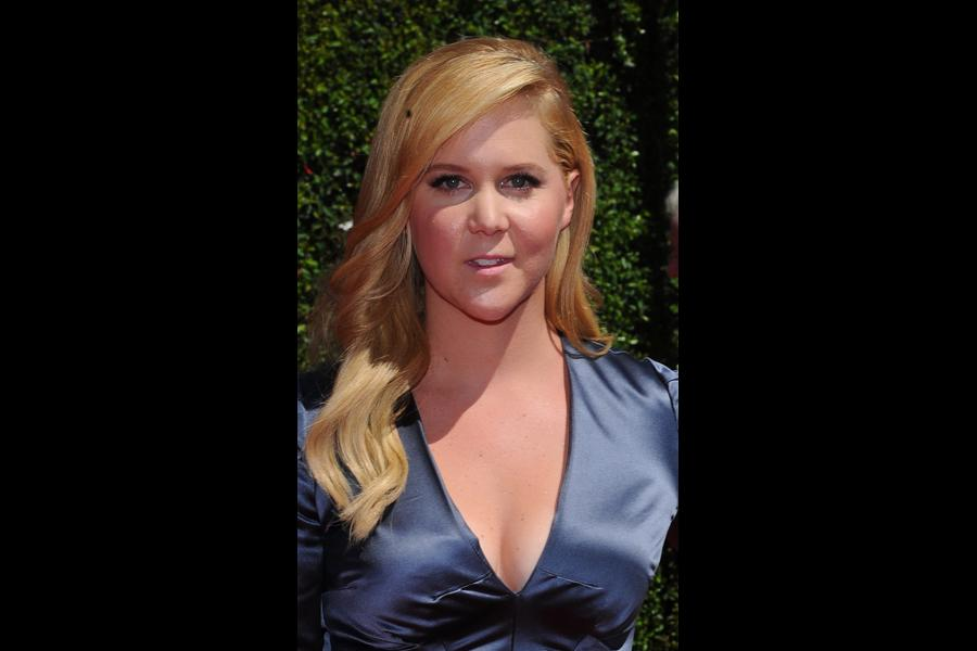 Amy Schumer of Inside Amy Schumer arrives for the 2014 Primetime Creative Arts Emmys.