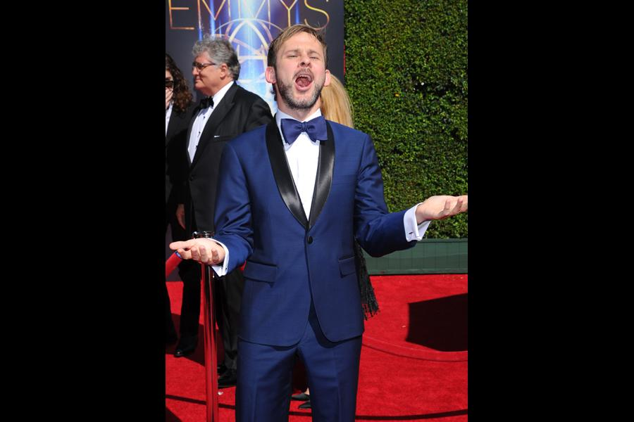 Dominic Monaghan of Wild Things with Dominic Monaghan arrives for the 2014 Primetime Creative Arts Emmys.