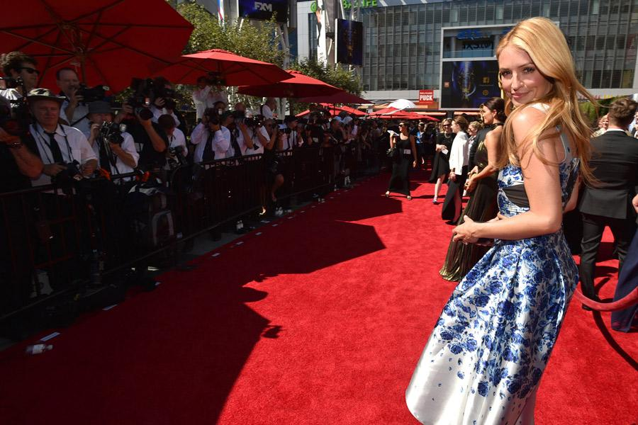 Cat Deeley of So You Think You Can Dance arrives for the 2014 Primetime Creative Arts Emmys.