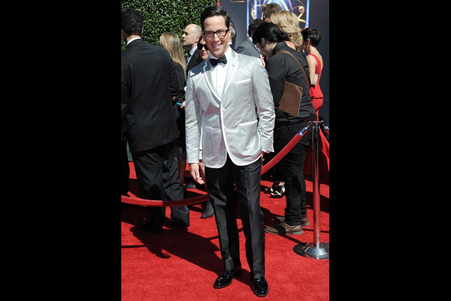 Dan Bucatinsky arrives for the 2014 Primetime Creative Arts Emmys.