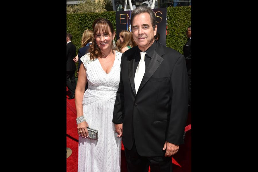 Wendy Bridges and Beau Bridges of Masters of Sex arrive for the 2014 Primetime Creative Arts Emmys.